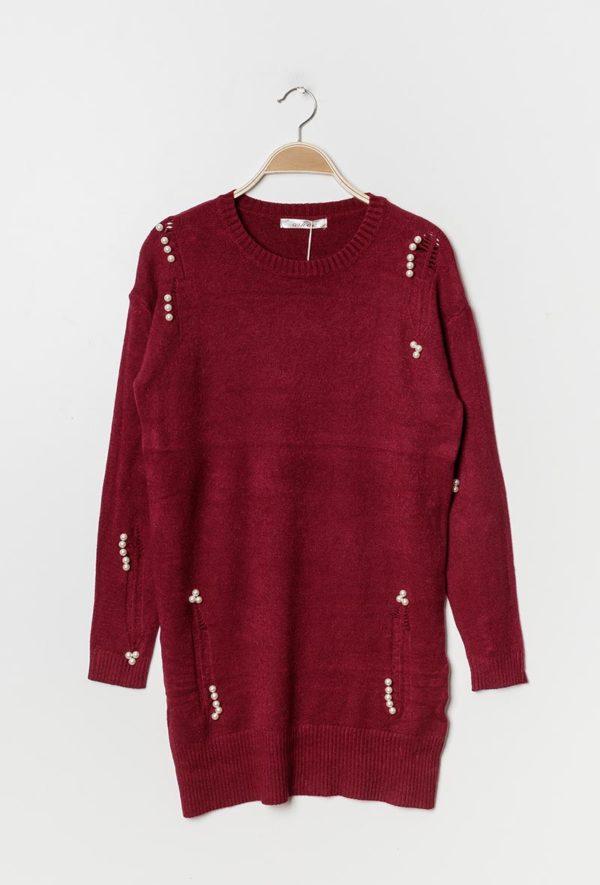 Pull robe orné