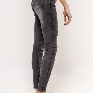Jeans skinny grey usé